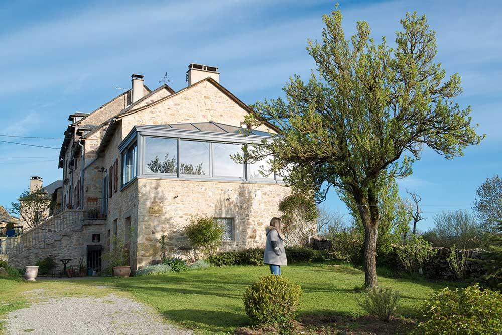 Véranda Vias Alu en Aveyron