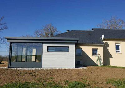 Extension de maison réalisée par Vias Alu en Aveyron